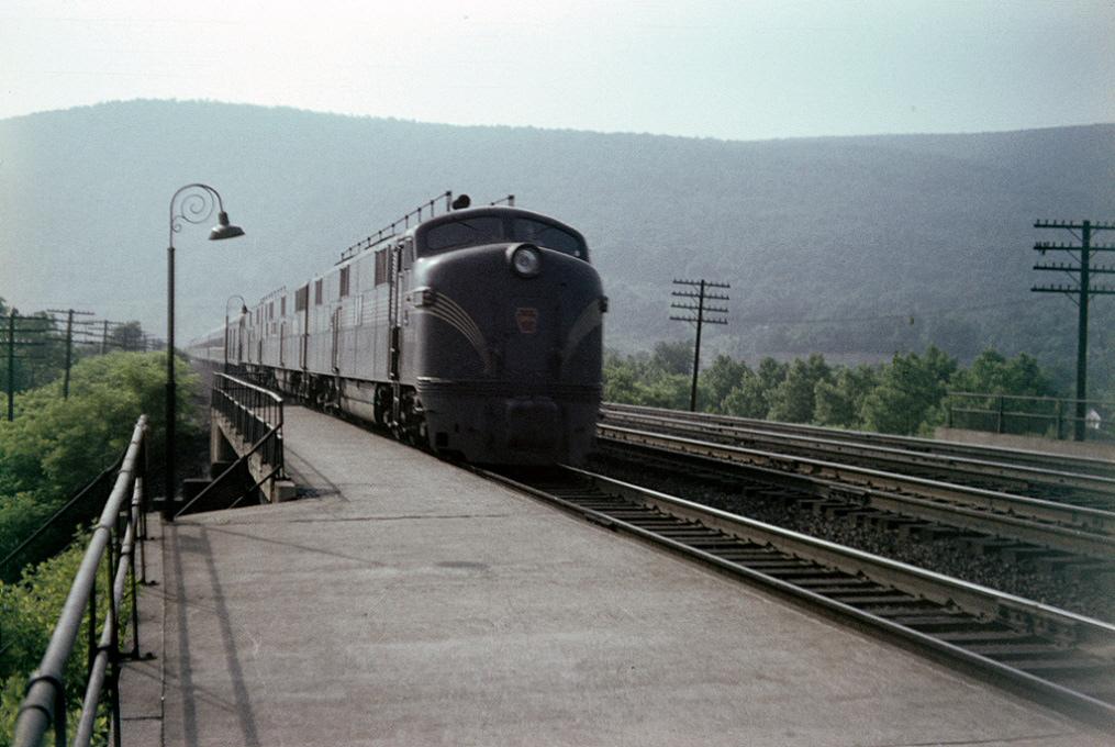 PRR passenger train at Mt Union, PA