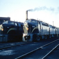 PRR Sharks 9712 and 9588 at Canton, OH