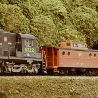 PRR N5C caboose in HO by Stuart Thayer