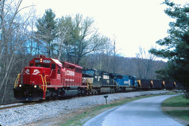 RJC SD40-2 3478 at Dysart, PA