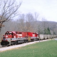 RJC SD40T-2 8336 pushing to Thurmond, WV