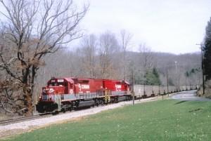 RJC SD40T-2 8336 pushing to Thurmond, WV