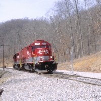 RJC SD40T-2 8718 at Harvey, WV