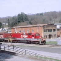 RJC SD40T-2 8718 light helper at Mt Hope, WV