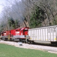 RJC SD40T-2 8718 pushing at Veasey, WV