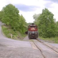 RJC train near Clymer, PA