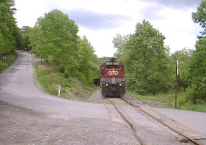 RJC train near Clymer, PA