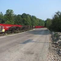 RJ Corman train loading at Stifflertown, PA