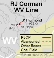 RJ Corman WV line map