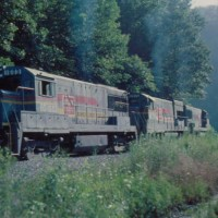SBD U25B 1603 on mine run, Maxie, KY