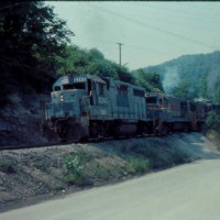 SBD GP38 6240 at Lost Mountain, KY