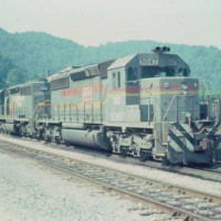 SBD SD40-2 8047 at Hazard, KY