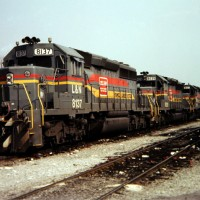SBD SD40-2 8137 at Etowah, TN