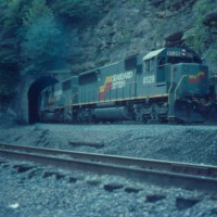 SBD SD50 8529 at Typo Tunnel, KY