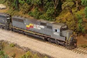 SBD SD50 in HO by Brian Bennett