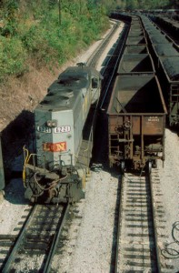 SBD yard switcher at Hazard, KY
