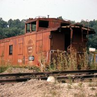 SECX caboose 13114 at Calla, KY