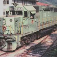 SECX GP38-2 3823 at Hazard, KY