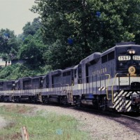 Southern GP30 2567 at Appalachia, VA