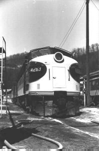 Southern F7A 4263 at Andover, VA