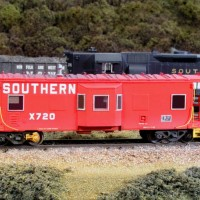 Southern caboose in HO by Bob Harpe