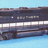 Southern GP40X in HO by Dan Bourque