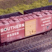 Southern Kaolin boxcar in HO by Dan Bourque