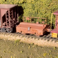 Southern scale test car in HO by Dan Bourque