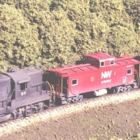 N&W C-31P caboose in HO by Stu Thayer