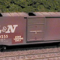 L&N 40-ft boxcar coke car in HO by Stu Thayer