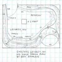 C&O NYC Leivasy, WV track plan HO