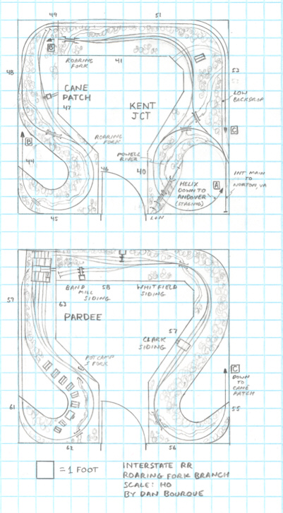 Track plan INT Roaring Fork Branch HO scale