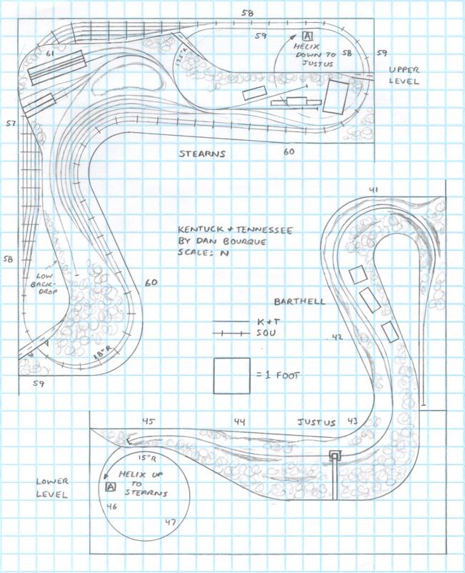 Track plan K&T diesel era N scale