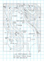 L&N Defiance, KY track plan HO scale