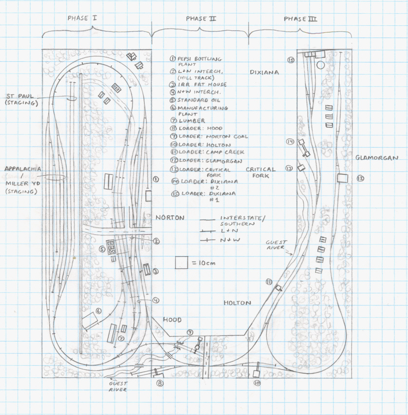 Track plan INT Norton and Dixiana N scale