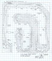 N&W Dumps Creek Branch track plan in HO lower deck