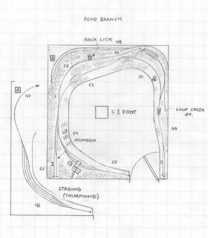 Track plan C&O Rend Branch, WV HO scale
