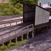 HO scale truck dump loader model by Tom Patterson