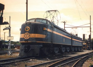 Virginian EL2B 127 at Roanoke, VA