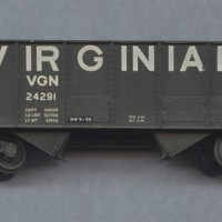 Virginian 55T hopper in HO by Dan Bourque