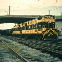 Virginian H16-44 Baby Trainmasters at Roanoke, VA