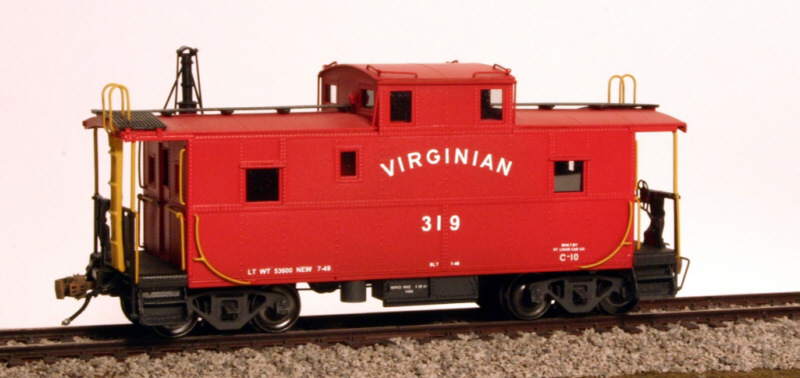 Virginian caboose in HO by Jerry Hammond