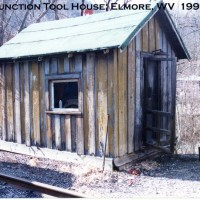 Virginian tool house at Gulf Jct, WV