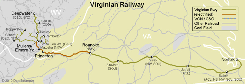 Virginian Railway map
