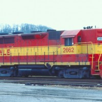 W&LE GP35 2662 at Rook Yard, PA