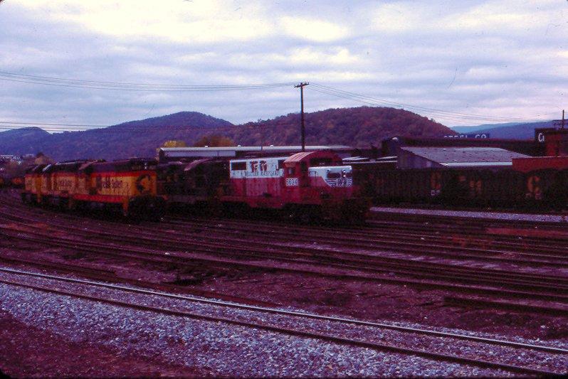WM GP7 5634 at Cumberland, MD
