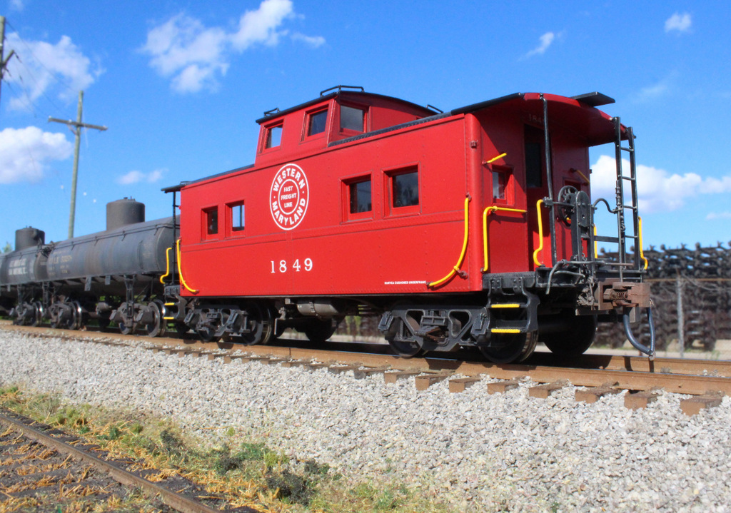 WM caboose model O scale by Lee Turner